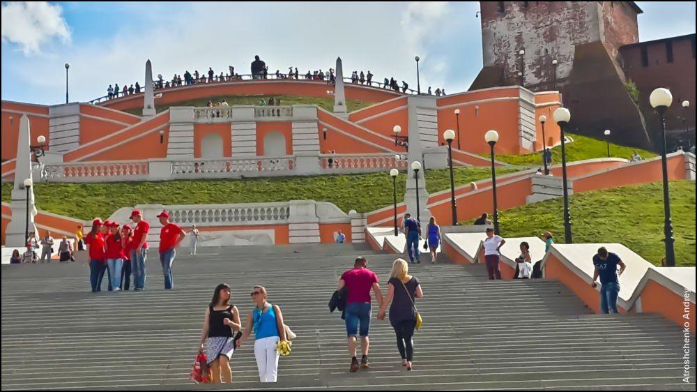 Красивая застройка центра Нижнего Новгорода