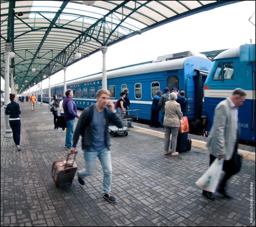 Скорый фирменный поезд № 2/1 Минск–Москва Беларусь