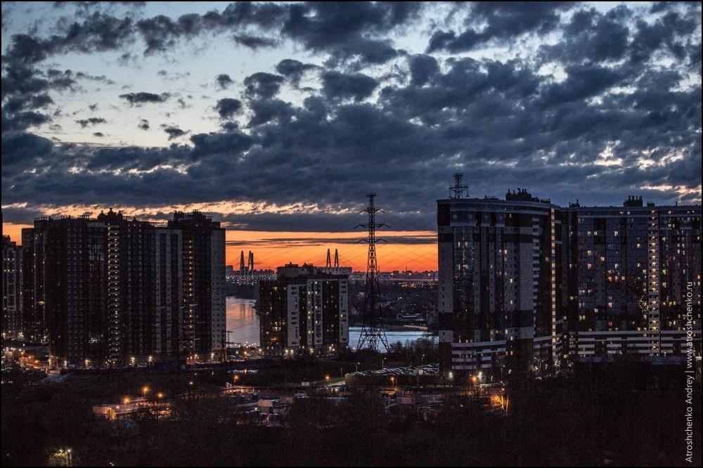 фото вечернего города в россии