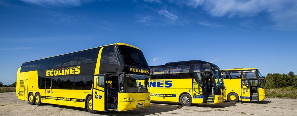 Поездка автобусом Ecolines - Видео
