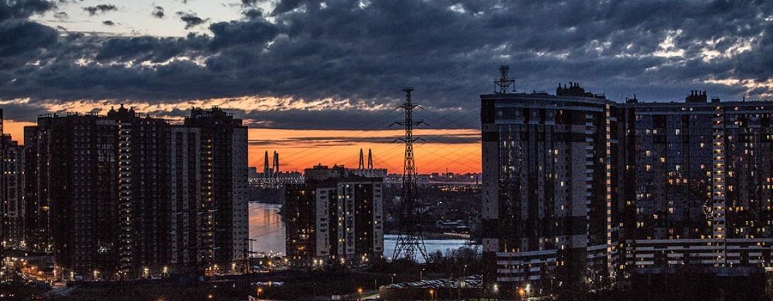Фото вечернего города на самоизоляции